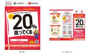 大牟田市 PayPay(ペイペイ) キャンペーン!対象店舗や還元率、付与上限など